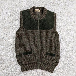 Vintage Brenire Pure Wool Sweater Vest Adult S A35